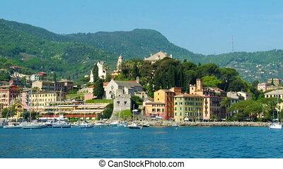 southern europa - italian riviera village of Santa...