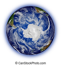 Southern hemisphere on planet Earth