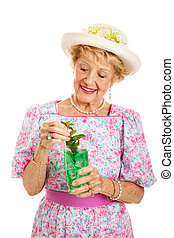 Southern Lady with Mint Julep