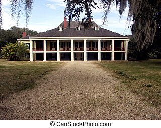Plantation home built in 1787 (French Colonial style), remodeled in 1840 (Greek Revival)