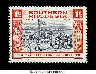 Southern Rhodesia - Mail stamp printed in Southern Rhodesia...