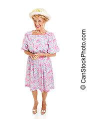 Southern Senior Lady - Isolated