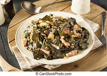 Southern Style Collard Greens with Salt Pork