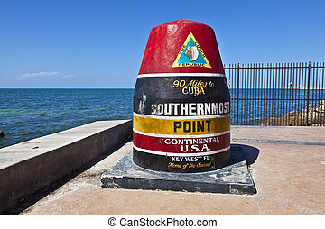 Southernmost Point marker, Key West, USA - Southernmost ...