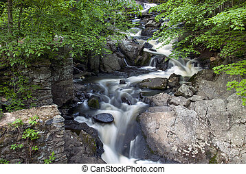Southford Falls - Water flowing through Southford falls in ...