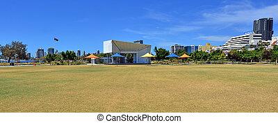 southport, contorno, -, costa oro, queensland, australia