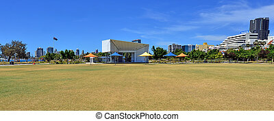 southport, skyline, -, goldene küste, queensland, australia