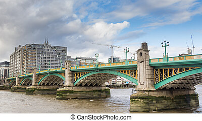 River Thames in City of London, UK
