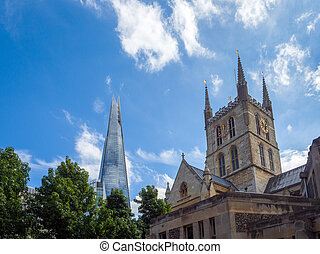 Southwark Cathedral Sharing the London Skyline with the Shard