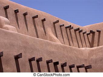 Southwest adobe building
