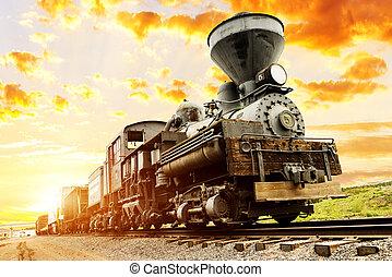 southwest train spirit - beautiful ils train in the sunset...