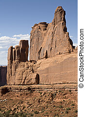Southwest USA - Rock Formation along Park Avenue, Arches ...