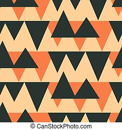 Southwestern aztec seamless pattern. Abstract geometric ...