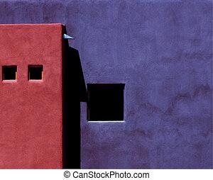 Southwestern House - Deep, bold, rich colors exemplify adobe...
