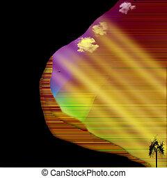 Southwestern US Canyons Abstraction - Southwestern US Desert...