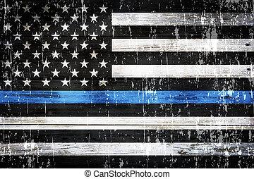 soutien, a mûri, police, drapeau, fond