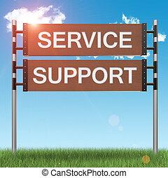 soutien, concept, affaires signent