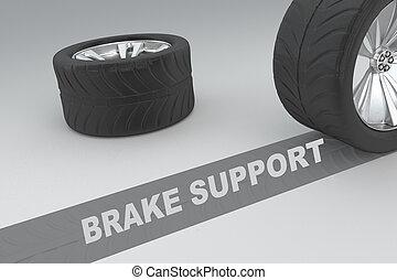 soutien, concept, frein