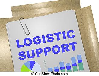 soutien, concept, logistique