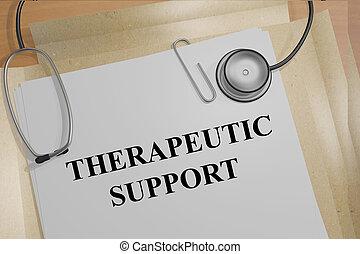 soutien, concept, thérapeutique