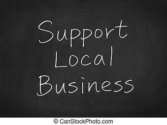 soutien, local, business