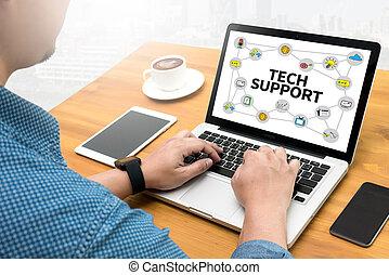 soutien, technologie