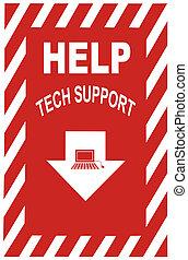soutien, technologie, signe