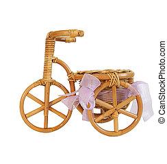 souvenir, figurine, de, a, vélo, blanc, fond