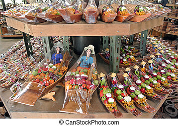 souvenir in floating market, Thailand.