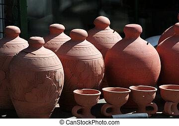 Souvenir pottery ...