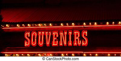 souvenir, segno neon