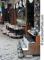 souvenir shop - Some antique objects at a souvenirs shop in...