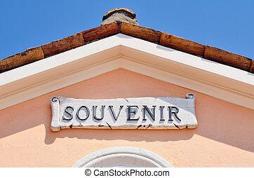 Souvenir Shop - Souvenir shop on the roof of St. Peter's...