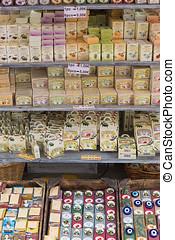 souvenir shop in the city of Heraklion. Crete, Greece.