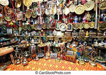Souvenir shop in Chefchaouen, Morocco, Africa