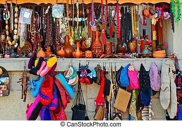Souvenirs at market in Mtsheta, the tourist capital of Georgia