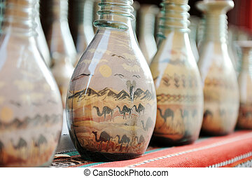 souvenirs - bottles with colored sand
