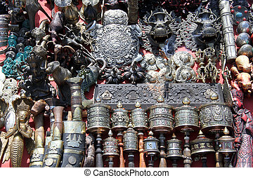 Souvenirs for tourists in Khatmandu, Nepal