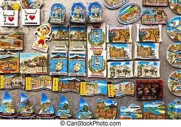 Multi-colored souvenirs