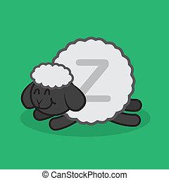 sova, sheep, z