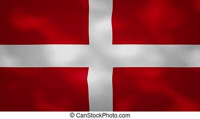 Sovereign Military Order of Malta dense flag fabric wavers, perfect loop for background