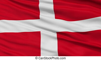 Sovereign Military Order of Malta Religious Flag, Close Up Realistic 3D Animation, Seamless Loop - 10 Seconds Long