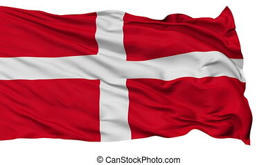Sovereign Military Order of Malta Religious Flag, Isolated Realistic 3D Animation, Seamless Loop - 10 Seconds Long