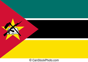 Mozambique - Sovereign state flag of country of Mozambique ...