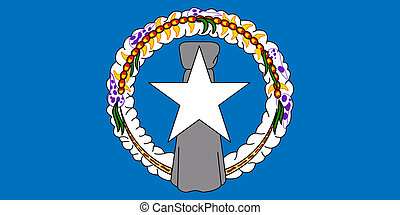 Northern Mariana Islands - Sovereign state flag of dependent...