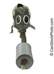 soviético, antiquado, máscara gás