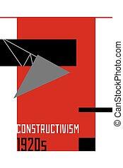 soviético, constructivism, 1920s, resumen, illustration.