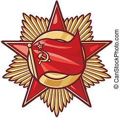soviético, estrela, ordem, (medal)