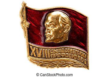 soviétique, écusson, lenin