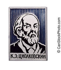 soviétique, écusson, tsiolkovsky